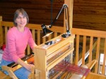 Carla at her Loom
