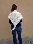 Back view of Tanya's shawl